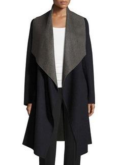 Diane von Furstenberg Reversible Wool-Blend A-Line Wrap Coat