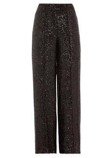 Diane Von Furstenberg Rhiannon wide-leg sequinned trousers