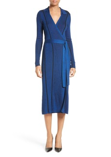 Diane von Furstenberg Ribbed Wrap Dress