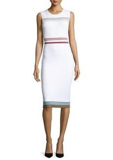 Diane von Furstenberg Ribbon Knit Sleeveless Sheath Dress