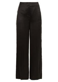 Diane Von Furstenberg Ribbon wide-leg satin trousers