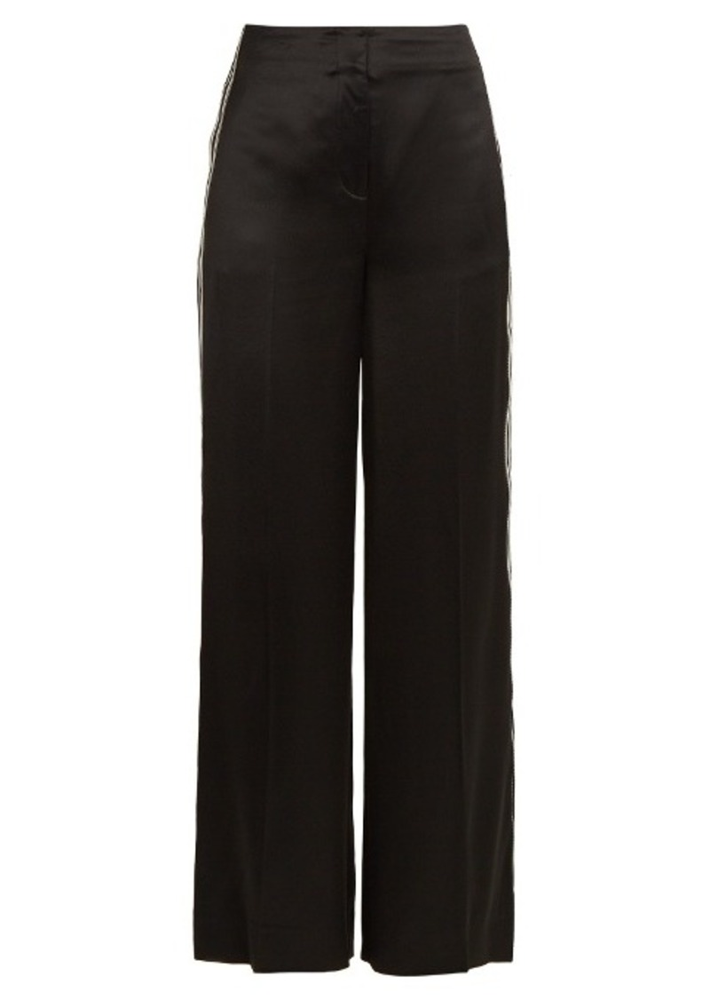 Diane Von Furstenberg Ribbon wide-leg satin trousers