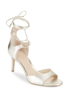 Diane Von Furstenberg Rimini Leather Wrap Strap Sandals