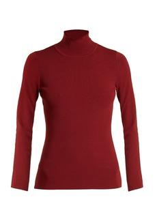 Diane Von Furstenberg Roll-neck stretch-knit top