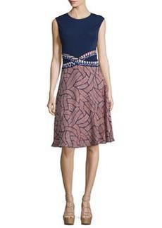 Diane von Furstenberg Rosalie Mixed-Print Fit & Flare Dress