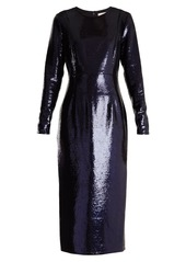 Diane Von Furstenberg Round-neck sequin-embellished dress