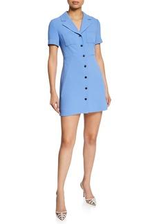 Diane von Furstenberg Rowan Button-Front Short-Sleeve Mini Dress