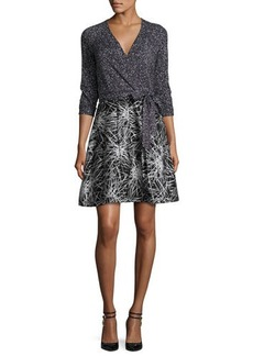 Diane von Furstenberg Rubie Mixed-Print Wrap Dress