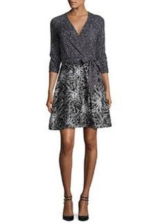 Diane von Furstenberg Rubie Mixed-Print Wrap Dress