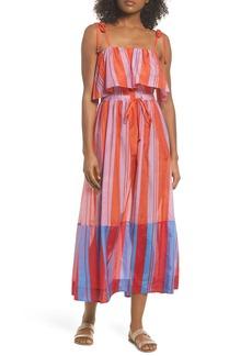 Diane Von Furstenberg Ruffle Cover-Up Maxi Dress