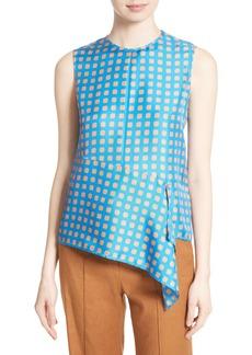 Diane von Furstenberg Ruffle Front Silk Blouse