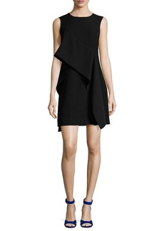 Diane von Furstenberg Ruffle-Front Sleeveless Crepe Mini Dress