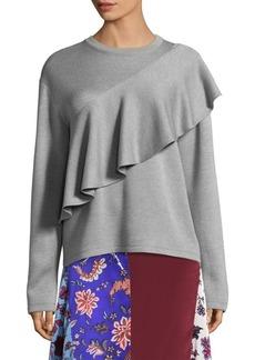 Diane Von Furstenberg Ruffled Front Sweater