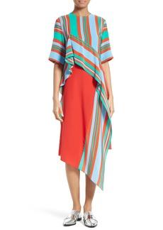 Diane von Furstenberg Ruffled Silk Dress