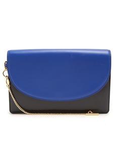 Diane Von Furstenberg Saddle bi-colour leather clutch