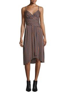 Diane von Furstenberg Saige Striped Stretch Silk Dress