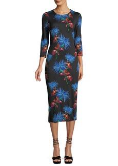 Diane von Furstenberg Saihanna Floral-Print Silk Midi Dress
