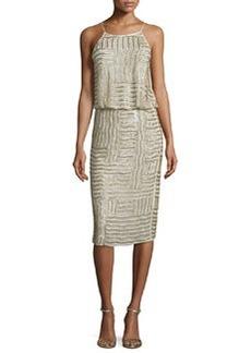 Diane von Furstenberg Samala Silk Embroidered Blouson Dress