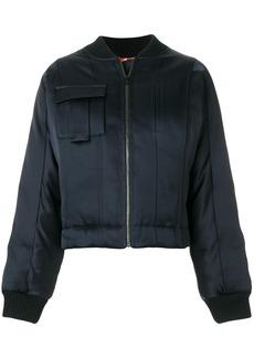 Diane Von Furstenberg satin bomber jacket - Blue