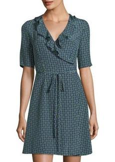 Diane von Furstenberg Savilla Ruffle-Trim Jersey Wrap Dress