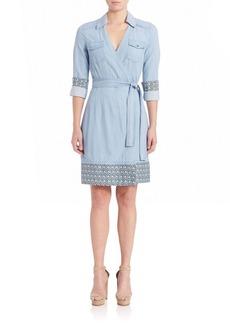 Diane von Furstenberg Savion Chambray Wrap Dress