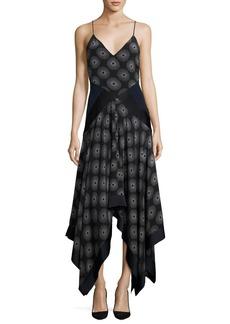 Diane von Furstenberg Scarf-Hem Silk Midi Dress