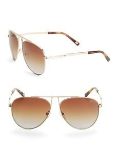 Diane von Furstenberg Scarlett 63MM Aviator Sunglasses