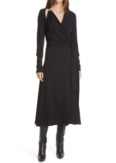 Diane von Furstenberg Scout Long Sleeve Wrap Dress