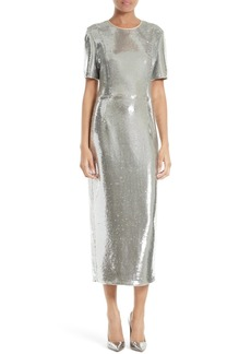 Diane von Furstenberg Sequin Midi Dress