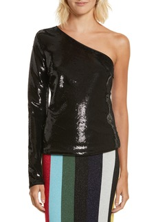 Diane von Furstenberg Sequin One-Shoulder Top