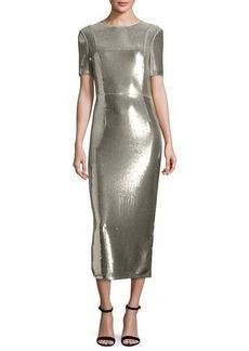 Diane von Furstenberg Sequined Sheath Midi Dress