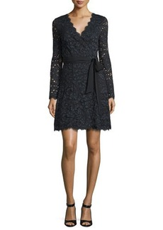 Diane von Furstenberg Shaelyn Lace Long-Sleeve Wrap Dress
