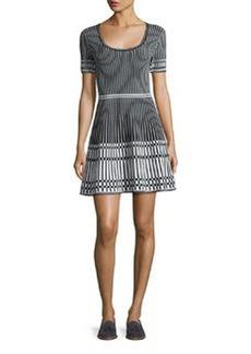 Diane von Furstenberg Short-Sleeve Knit Fit & Flare Dress