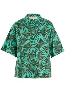 Diane Von Furstenberg Short-sleeved stretch-cotton shirt