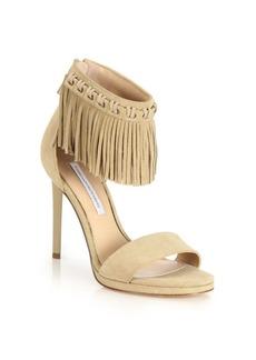 Diane von Furstenberg Sian Fringed Suede Sandals