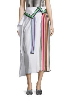 Diane von Furstenberg Side Pleated Ribbon Skirt