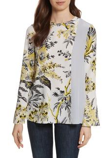 Diane von Furstenberg Side Slit Silk Blouse