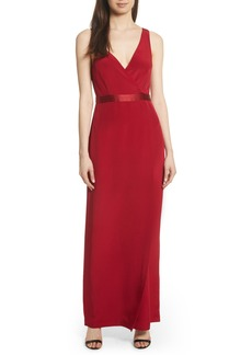 Diane von Furstenberg Side Slit Silk Gown