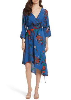 Diane von Furstenberg Silk Asymmetrical Wrap Dress