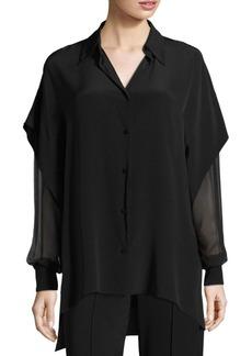 Diane Von Furstenberg Draped Silk Shirt