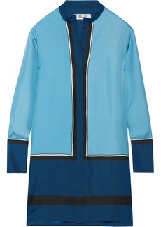 Diane von Furstenberg Silk-twill mini shirt dress