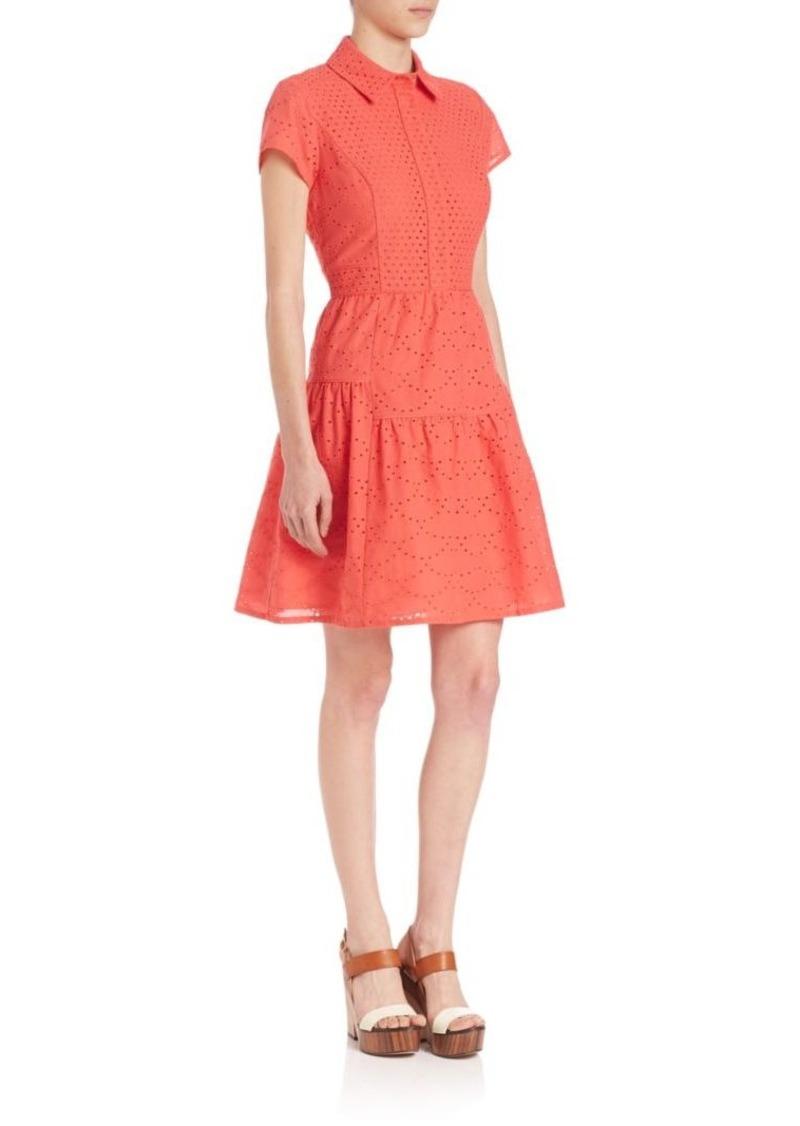 Diane von Furstenberg Skylar Cotton Eyelet Dress