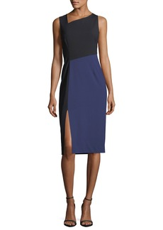 Diane von Furstenberg Sleeveless Asymmetric-Neck Midi Dress