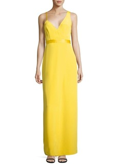 Diane von Furstenberg Sleeveless Asymmetrical Side Silk Dress