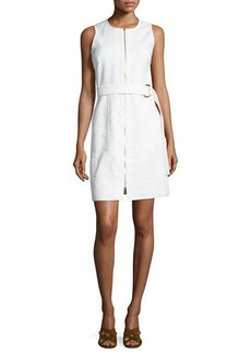 Diane von Furstenberg Sleeveless Belted Zip-Front Dress