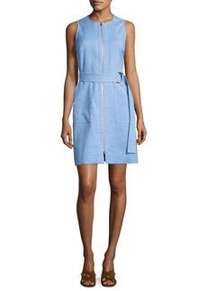 Diane von Furstenberg Sleeveless Belted Zip-Front Dress