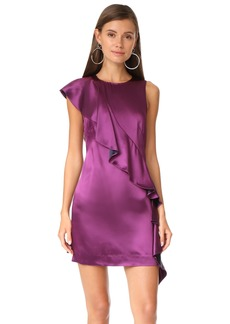 Diane von Furstenberg Sleeveless Cross Body Ruffle Dress
