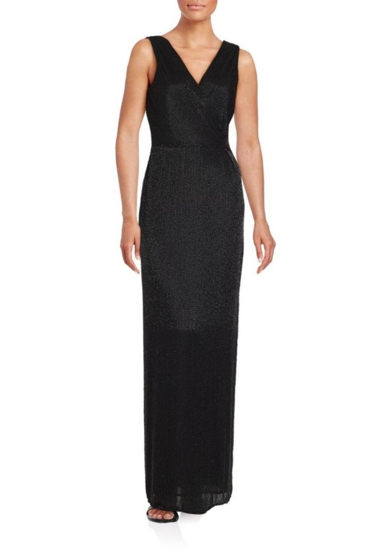 Diane von Furstenberg Sleeveless Embellished Gown