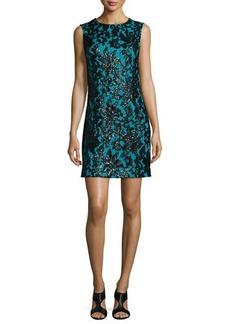 Diane von Furstenberg Sleeveless Floral Shift Dress