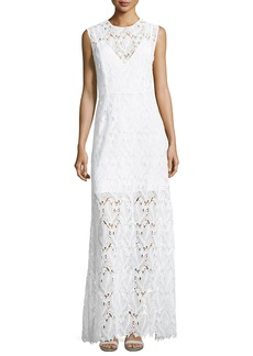 Diane von Furstenberg Sleeveless High-Neck Fluid Dress